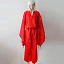 hesapli Anime Cosplay Peruklar-Esinlenen InuYasha Inu Yasha Anime Cosplay Kostümleri Cosplay Takımları / Kimono Solid Uzun Kollu Top / Pantalonlar / Kemer Uyumluluk Erkek / Kadın's Cadılar Bayramı Kostümleri