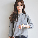 cheap Women's Athletic Shoes-Women's Cotton Shirt - Embroidered Crew Neck / Spring