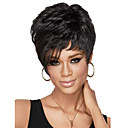 cheap Synthetic Wigs-Synthetic Wig With Bangs Synthetic Hair Black Wig Women's