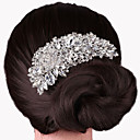 cheap Earrings-Women's Party Elegant Wedding Crystal Silver Plated Hair Comb