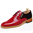 cheap Men's Oxfords-Men's Shoes Leather Spring / Summer Comfort / Bullock shoes / Formal Shoes Oxfords Black / Red / Wedding / Party & Evening / Dress Shoes