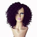 olcso Emberi hajból készült parókák-Emberi haj Tüll homlokrész / Csipke eleje Paróka Kinky Curly Paróka 130% / 150% Természetes hajszálvonal / Afro-amerikai paróka / 100% kézi csomózású Női Rövid / Közepes / Hosszú Emberi hajból