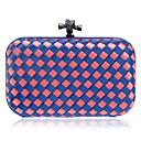 cheap Clutches & Evening Bags-Women's Bags Polyester Evening Bag Buttons Blue / Pink / Light Blue