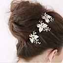 baratos Acessórios de Cabelo-Imitação de Pérola / Strass / Liga Pino de cabelo com 1 Casamento / Ocasião Especial Capacete