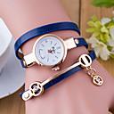 baratos Relógios da Moda-Mulheres Bracele Relógio Venda imperdível Couro Banda Amuleto / Fashion Preta / Branco / Azul / Um ano / Tianqiu 377