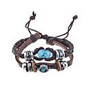 preiswerte Armbänder-Herrn Wickelarmbänder Lederarmbänder - Leder Einzigartiges Design, Retro, Modisch Armbänder Kaffee Für Weihnachts Geschenke Party Alltag