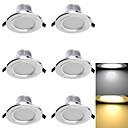baratos Luzes LED de Encaixe-3000/6000 lm Lâmpada de Embutir 6 leds SMD 5730 Decorativa Branco Quente Branco Frio AC 110-130V AC 220-240V AC 85-265V