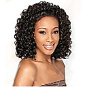 preiswerte Synthetische Perücken ohne Kappe-Synthetische Perücken Kinky Curly Synthetische Haare Afro-amerikanische Perücke Braun Perücke Damen Lang Kappenlos Braun