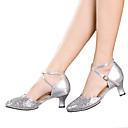 זול Dance Boots-ללא התאמה אישית-עקב קובני-עור פטנט / נצנצים / פאייטים / סינטתי-לטיני-נשים