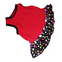 cheap Kitchen Appliances-Dog Dress Dog Clothes Polka Dot Heart Black / Red Cotton Costume For Pets Summer Women's Fashion