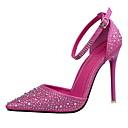 olcso Női magassarkú cipők-Női Cipő Bőrutánzat Nyár Tűsarok Glitter / Csat Fukszia / Rózsaszín / Aranyozott / Ruha