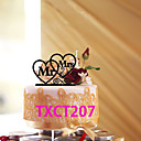 billige Kakedekorasjoner-Kakepynt Ikke-personalisert Monogram Akryl Bryllup Rød / Svart Klassisk Tema 1 OPP