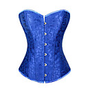cheap Costume Wigs-Women's Satin Lace Up Overbust Corset - Jacquard / Spring