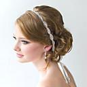 זול הד פיס למסיבות-סאטן סרט קריסטל פרח בעבודת יד מלא לשרוך סרט לתכשיטי שיער גברת מסיבת חתונה