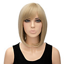 cheap Synthetic Capless Wigs-Synthetic Wig Women's Straight Blonde Bob Synthetic Hair Blonde Wig Short Capless Blonde