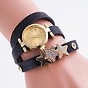 baratos Relógios da Moda-Mulheres Bracele Relógio Relógio Casual / imitação de diamante PU Banda Amuleto / Casual / Fashion Cores Múltiplas