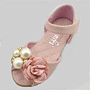 preiswerte Mädchenschuhe-Mädchen Schuhe PU Frühling / Herbst Komfort Sandalen für Rosa / Elfenbein