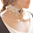 cheap Necklaces-Y Necklace - Flower White Necklace For Special Occasion, Anniversary, Party / Evening / Daily