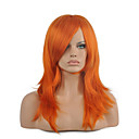 billige Kostumeparyk-Syntetiske parykker / Kostumeparykker Dame Lige Rød Syntetisk hår Rød Paryk Medium Længde Lågløs Orange