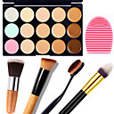 cheap Eyeshadows-Concealer Cream Concealer / Contour Makeup Body Face Dry Wet Matte Whitening Moisture Coverage # 15 Colors Cosmetic Grooming Supplies / Shimmer