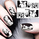 cheap Full Nail Stickers-1 pcs Fashion Water Transfer Sticker Daily