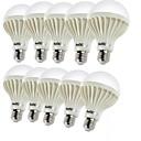 halpa LED-pallolamput-YouOKLight 10pcs 3W 150-200lm E26 / E27 LED-pallolamput C35 12 LED-helmet SMD 5630 Koristeltu Lämmin valkoinen 220-240V