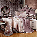 cheap High Quality Duvet Covers-Duvet Cover Sets Luxury Silk / Cotton Blend Jacquard 4 Piece Bedding Sets / >800  king