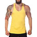 ieftine Costum de Baie Atletic-Bărbați Rotund - Mărime Plus Size Tank Tops Sport Bumbac Activ - Mată De Bază / Fără manșon / Zvelt