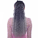 cheap Human Hair Capless Wigs-Human Hair Extensions Synthetic Extentions Wavy Synthetic Hair Long Hair Extension Clip In Ombre 1pc Women's Daily