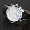 זול טבעות לגברים-בגדי ריקוד גברים שעון יד שעון מכני אוטומטי נמתח לבד עור שחור לוח שנה אנלוגי פאר קלסי - לבן כחול כהה / מתכת אל חלד