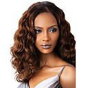 billige Blondeparykker med menneskehår-Syntetiske parykker Dame Dyp Bølge Brun Syntetisk hår Brun Parykk Lokkløs Mørkebrun
