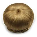 baratos Perucas Sintéticas sem Touca-Coques Clássico / Chique & Moderno Bolo de cabelo Updo Cabelo Sintético Pedaço de cabelo Alongamento Clássico / Chique & Moderno Diário Marrom