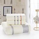 baratos Roupões e Toalhas-Qualidade superior Conjunto de Toalhas de Banho, Sólido 100% algodão Banheiro