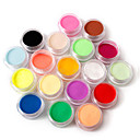 cheap Nail Glitter-18 pcs Loose powder / Acrylic Powder / Powder Classic / Pastel Nail Art Design / Nail Art Forms Daily