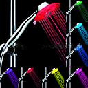 hesapli LED Duş Başlıkları-LED Duşluk Başı Işığı Su Su Geçirmez ABS