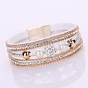 cheap Bracelets-Women's Layered Chain Bracelet / Wrap Bracelet - Leather, Rhinestone, Imitation Diamond Friends Bohemian, Fashion, Boho Bracelet Gray / Pink / Light Blue For Christmas Gifts / Wedding / Gift
