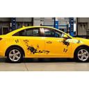 baratos Adesivos Decorativos para Automotivo-Preto / Vermelho Adesivos Decorativos para Carro Estilo Chinês Adesivos de carro completo Plantas Adesivos
