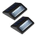 olcso Kültéri lámpa és gyertyatartók-csomag 2 napenergia 6-vezette falra szerelhető kerti fény útját táj kerítés lámpa kültéri