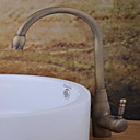 cheap Kitchen Faucets-Contemporary Centerset Rotatable Ceramic Valve One Hole Single Handle One Hole Antique Copper, Bathroom Sink Faucet