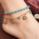 cheap Anklet-Beaded / Tassel Anklet - Flower Bohemian, Fashion, Boho Gold For Daily / Casual / Women's