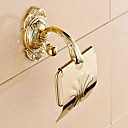 billige Vægklistermærker-Toiletrulleholder Moderne Messing 1 stk - Hotel bad