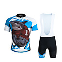 cheap Cycling Jersey & Shorts / Pants Sets-ILPALADINO Men's Short Sleeves Cycling Jersey with Bib Shorts - Black Bike Bib Shorts Jersey Clothing Suits, 3D Pad, Quick Dry,