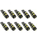 baratos Luzes de Seta para Veículos-10pçs T10 Carro Lâmpadas 2 W SMD 5050 200 lm 9 LED Lâmpada de Seta For Universal