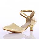 abordables Zapatos de Baile Moderno-Mujer Zapatos de Baile Latino Semicuero Tacones Alto Hebilla Tacón Personalizado Personalizables Zapatos de baile Azul / Rosa / Dorado