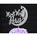 preiswerte Aufkleber, Etiketten und Schilder-Tortenfiguren & Dekoration individualisiert Klassisches Paar / Herzen Kartonpapier Hochzeit / Jubliläum / Brautparty Blumen SilberBlumen