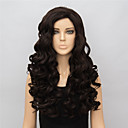 cheap Synthetic Capless Wigs-Synthetic Wig Wavy Brown Women's Carnival Wig Halloween Wig Black Wig Long Synthetic Hair