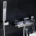 abordables Adhesivos de Pared-Grifo de ducha Grifo de bañera - Moderno Cromo Bañera y ducha Válvula Cerámica