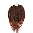 billige Hårfletter-Havana Twist Braids Hårforlengelse 12 16 20 24 inch Kanekalon 12 roots/pac Strand 100 g/pack gram Hair Braids
