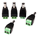 olcso Biztonsági tartozékok-Konnektor 5PCS DC Power Male Jack to 2 Conductor Screw Down Connector for LED Light Controller mert Biztonság Systems 4*1.8*1.5cm 0.028kg