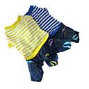 billige Hundetøj-Hund Jumpsuits Hundetøj Stribe Gul Blå Bomuld Kostume For kæledyr Herre Dame